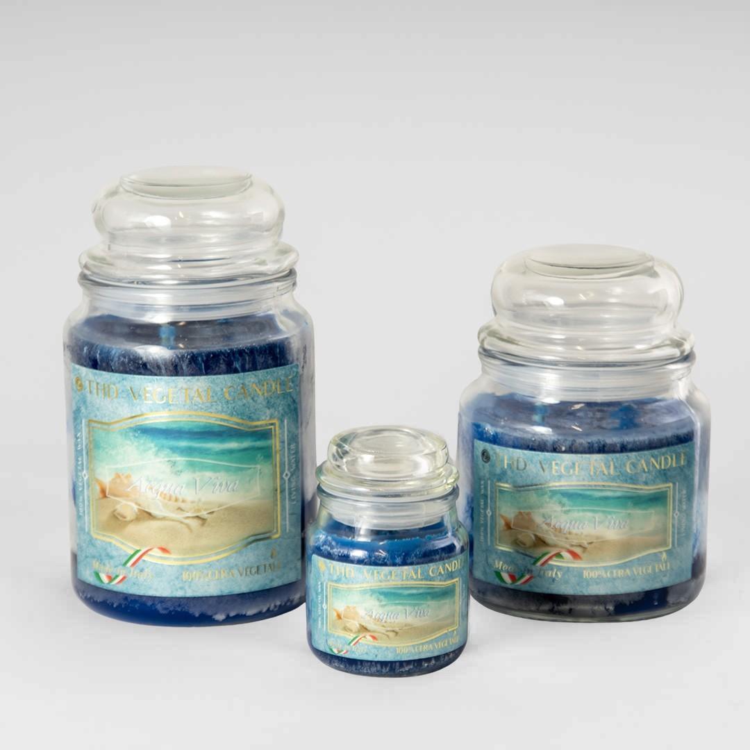 Kerze im Glas VEGETAL - Belebendes Wasser Set