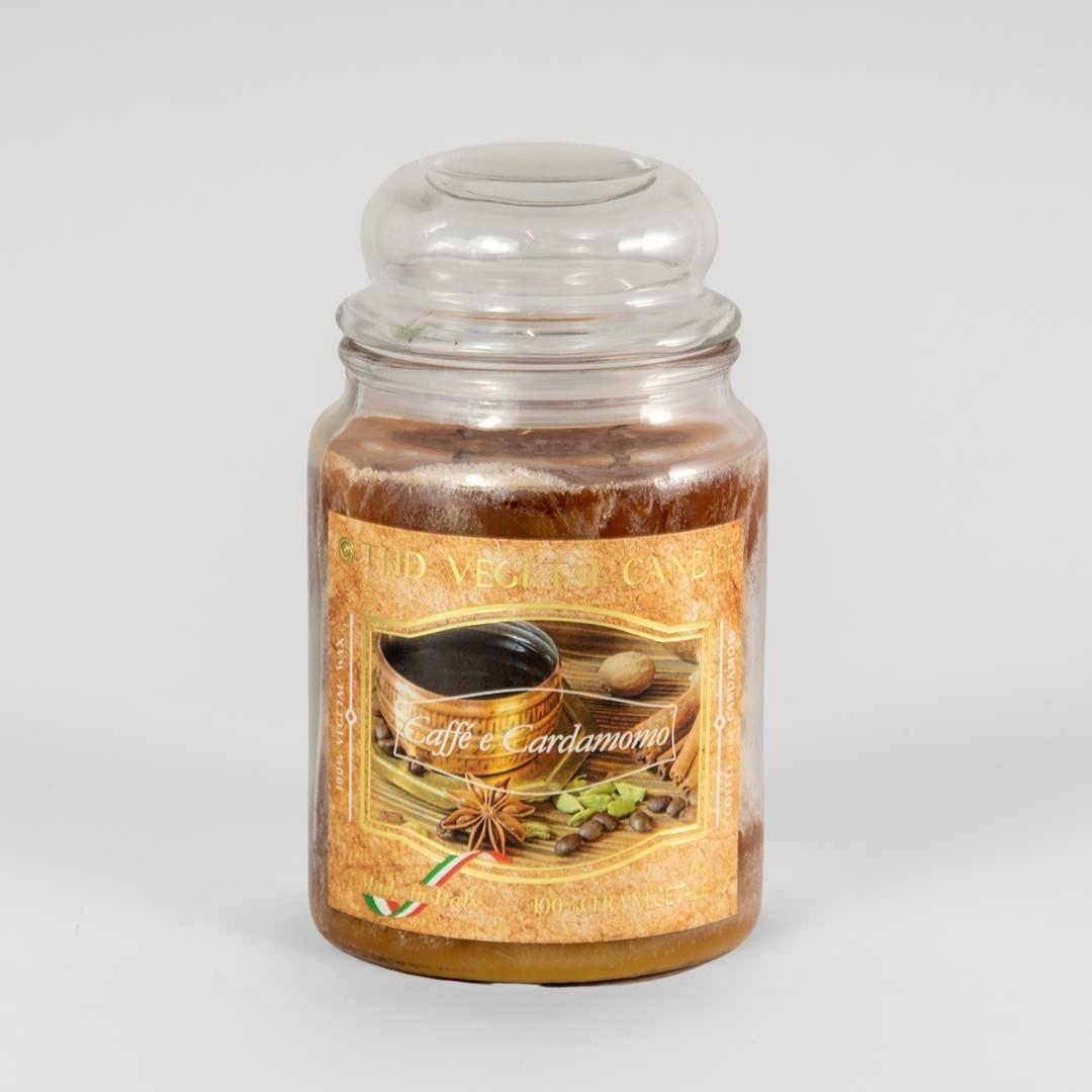 Kerze im Glas VEGETAL Kaffee und Kardamom 600 g