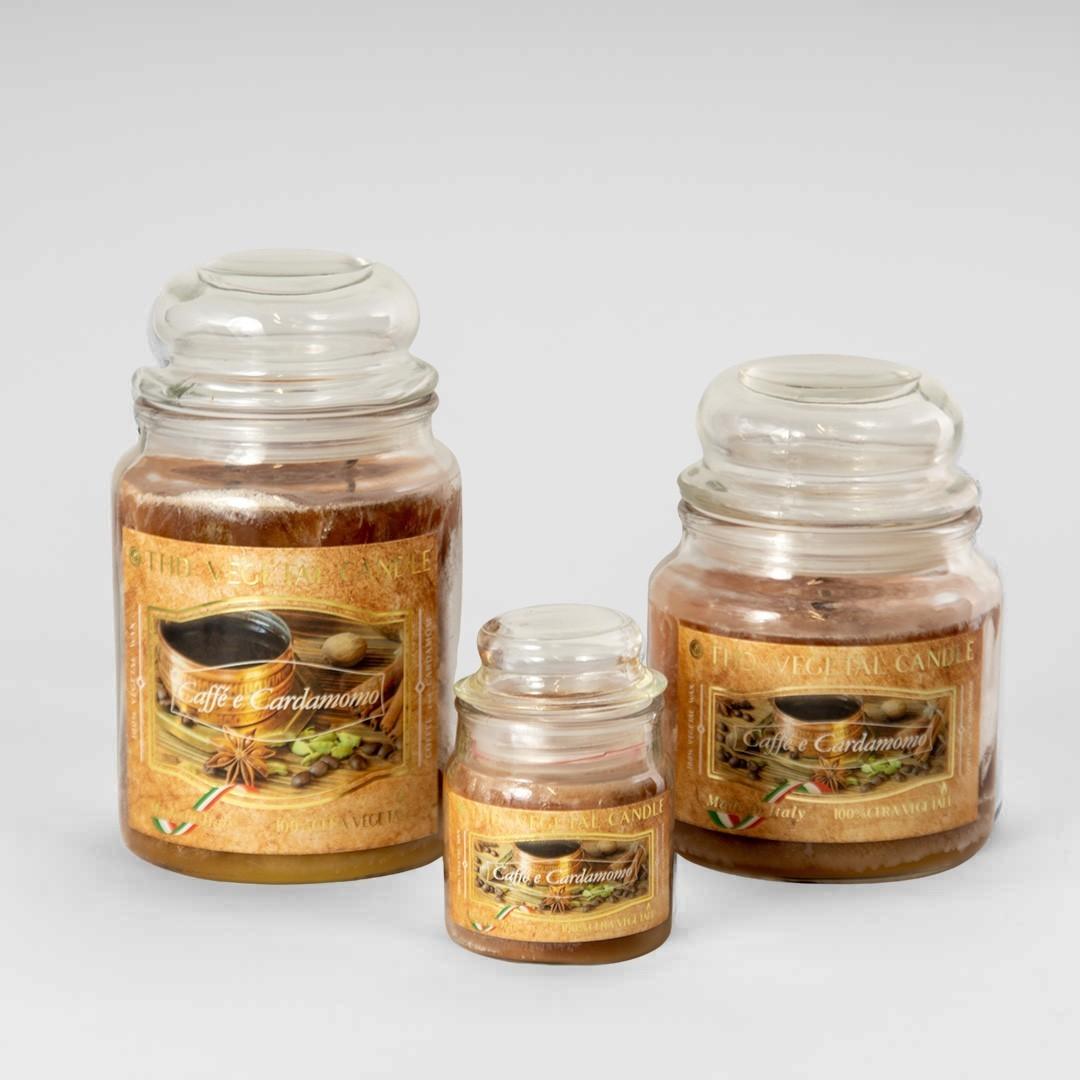 Kerze im Glas VEGETAL Kaffee und Kardamom Set