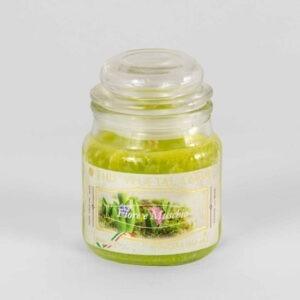 Kerze im Glas VEGETAL Blume und Moos 100 g