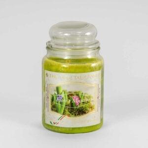 Kerze im Glas VEGETAL Blume und Moos 600 g