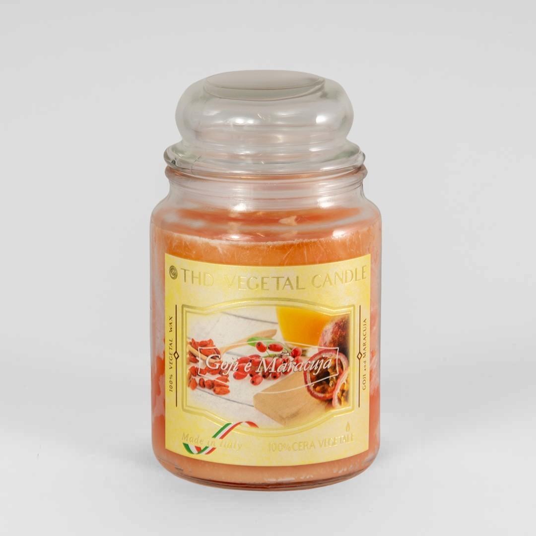 Kerze im Glas VEGETAL Goji und Maracuja 600 g