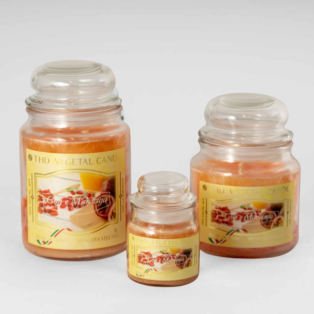 Kerze im Glas VEGETAL Goji und Maracuja Set