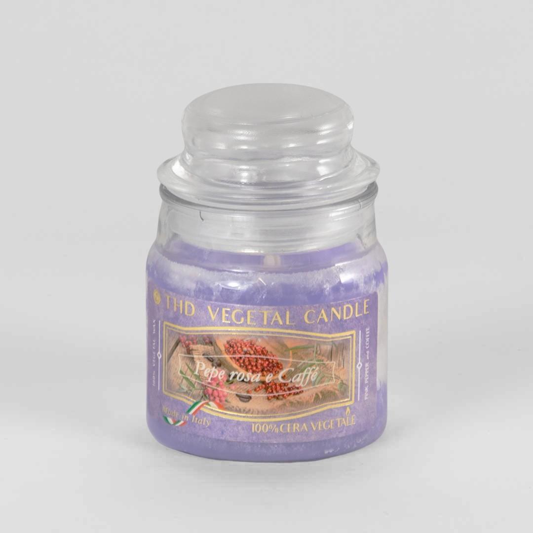 Kerze im Glas VEGETAL Rosa Pfeffer und Kaffee 100 g