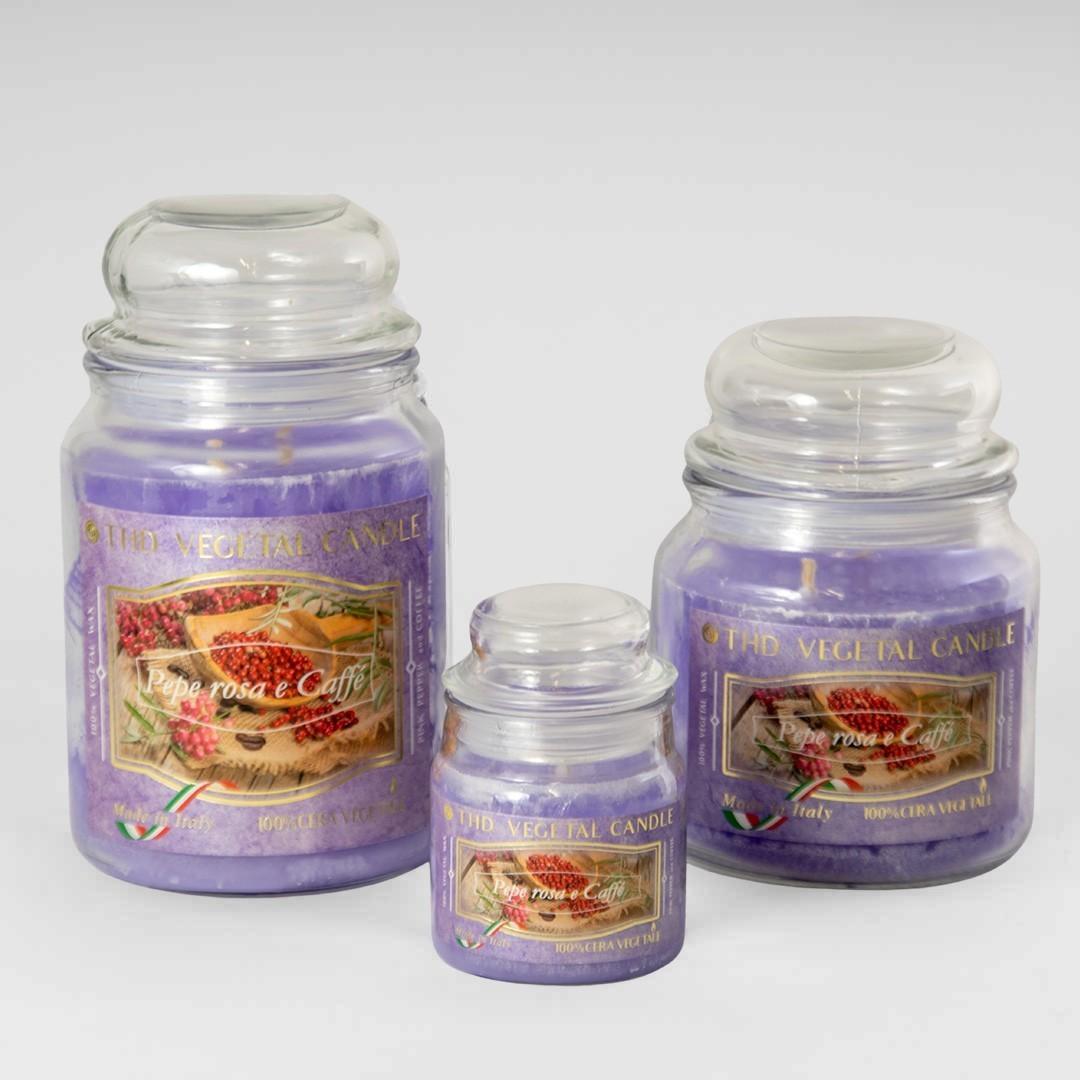 Kerze im Glas VEGETAL Rosa Pfeffer und Kaffee Set